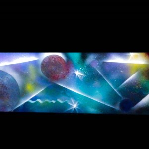 Tableau Nébuleuse et planètes 3D par Mounia LOUKRISS