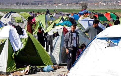 Reportage dans un camp de réfugiés / Idomeni / Grèce / Crédit:Samuel Fromhold/Matuvu'