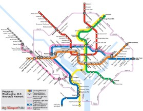 Map of DC Metro System with future upgrades