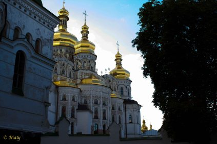 Golden Domes of Pecherska Lavra Monastery from another angle