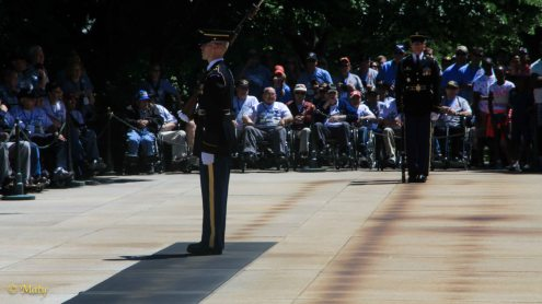 Change of the Guard at the Tomb of the Unknown Soldier at the Arlington National Cementary
