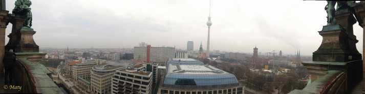 Panorama view from the top of the Berliner Dome - not to many high buildings