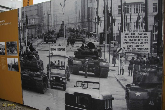 This photo on the Checkpoint Charlie Museum tells different story about Berlin back then...