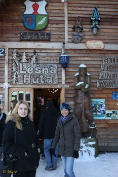 Entrance to the Glass-making Store and Factory Lesna Huta in Szklarska Poreba, Poland. This store and factory is also located not to far away from the skiing facilities.