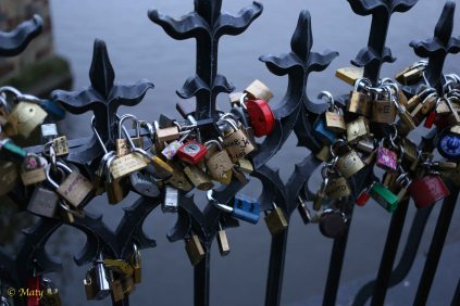 Love Locks - securing commitment to the Charles Bridge.