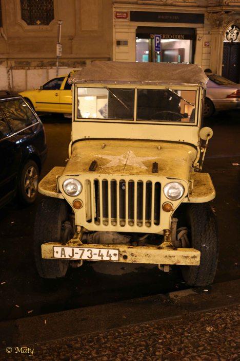 Old American Jeep in Prague, Czech Repulic