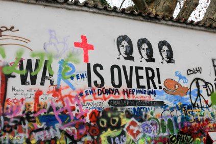 "Lennon memorial in Prague, Czech Republic - ""war is over"" = which one?"