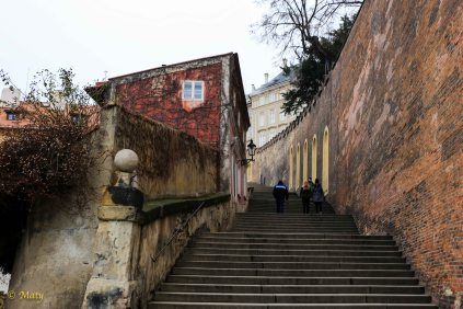 Long steps to Hrad Castle, Prague, Czech Republic