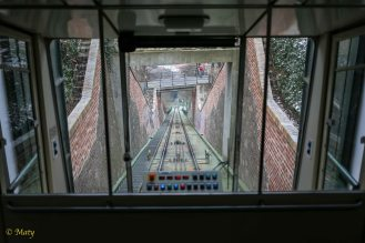 Funicular up Petrin hill is fun and adds some excitement to the trip - Prague, Czech Republic