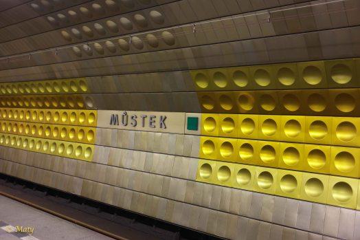 Metro in Prague, Czech Republic