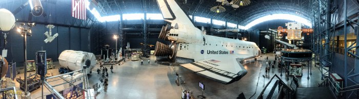 Panorama of the Space Section with Space Shuttle