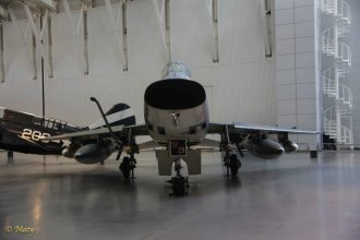 North American F-100D Super Sabre from the nose