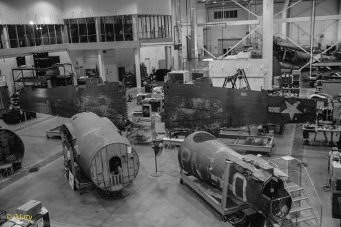 """Restoring of Martin B-26B-25-MA Marauder """"Flak-Bait"""" at the Mary Baker Engen Restoration Hangar"""