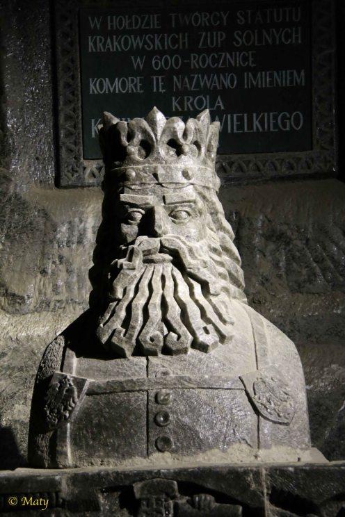Another salt sculpture - Polish King Kazimierz Wielki