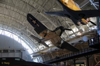 Vought F4-1D Corsair and Curtis P-40E Kittyhawk