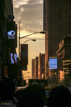 "This sunset at Times Square reminds me the scene from the movie ""I Am Legend""... just saying"