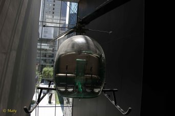 Helicopter hanging in the MOMA - I am guessing it is modern!