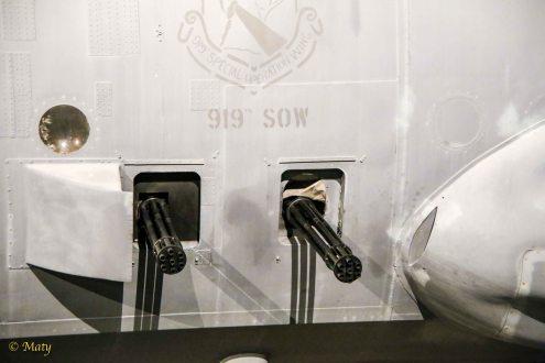 """7.62 mm miniguns on Lockheed AC-130A """"Azrael"""""""