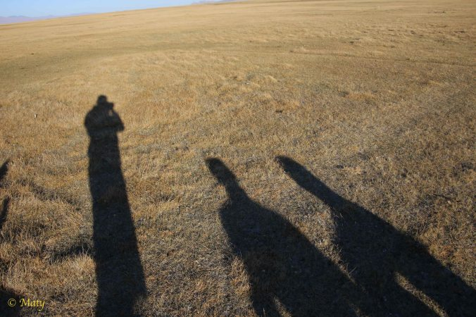 We see some long shadows and it is getting cold = night time is approaching!