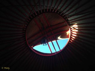 This is the top of the yurt and also the main feature of the Kyrgyz Flag