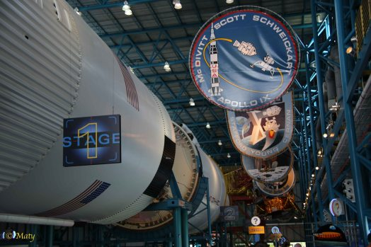 Different Apollo mission patches