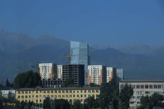 Almaty is in the process of constant construction.