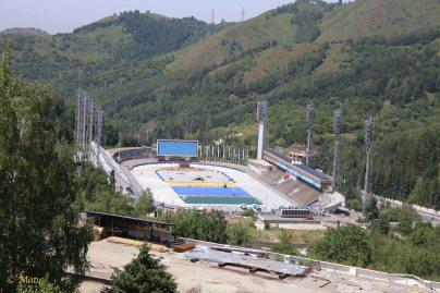 Medeu Stadium is being upgraded.
