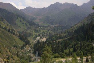 Road to Medeu Stadium, Almaty, Kazakhstan