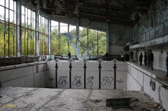 olympic size pool and some grafiti- city of Pripyat