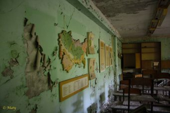 another abandoned classroom - city of Pripyat
