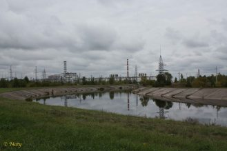 Reactor 4 and supporting buildings