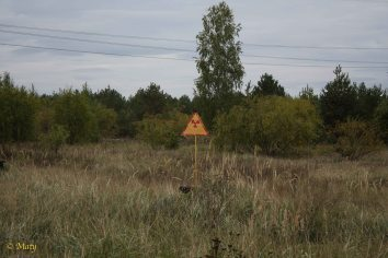"""there are plenty of radiation signs all over the """"exclusion zone"""""""