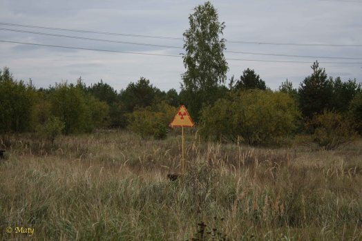 "there are plenty of radiation signs all over the ""exclusion zone"""