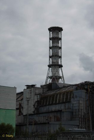Reactor 4 and its sarcophagus