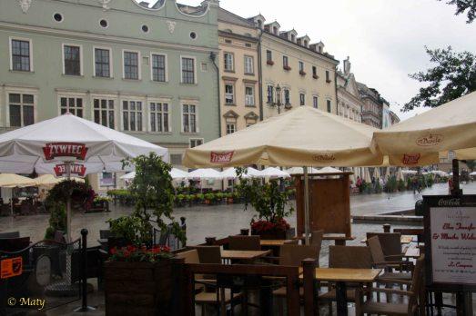 Restaurants on Main Market in Krakow