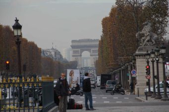 Triumphal Arch from Avenue des Champs-Élysées