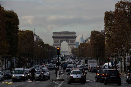 Arc de Triomphe from Foch Avenue