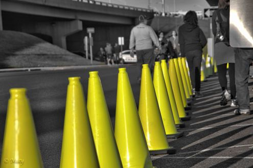 Some yellow cones for you!