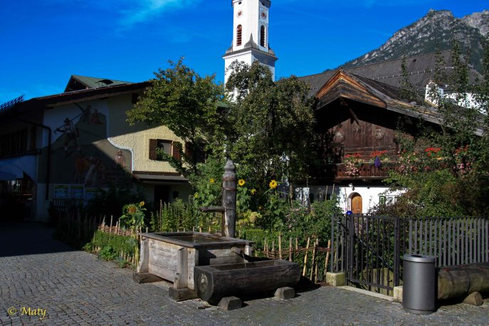 Morenplatz - still looks like Summer time but we know it is Fall