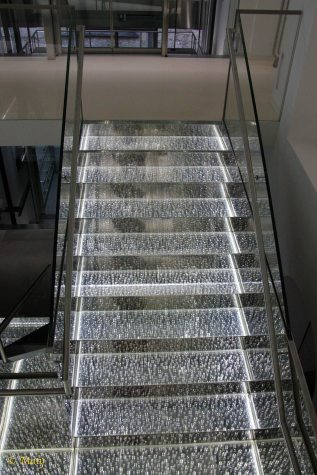 stairs mad out of crystals in Swarovski store in Innsbruck