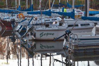 Boats on Potomac Marina