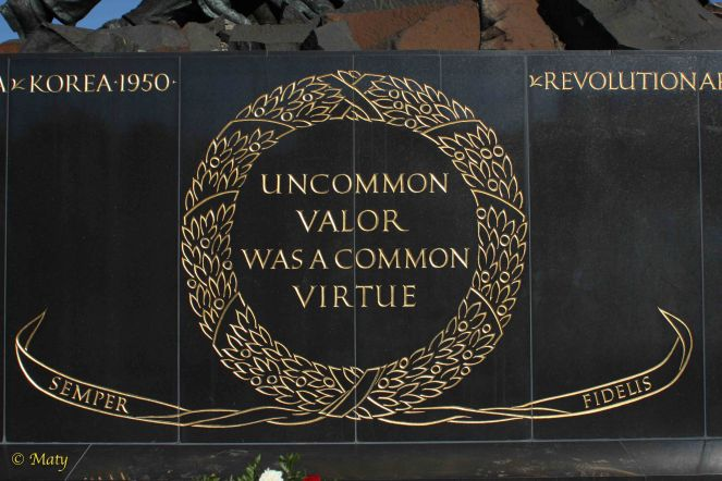 Marine Corps War Memorial - Uncommon Valor was a common virtue