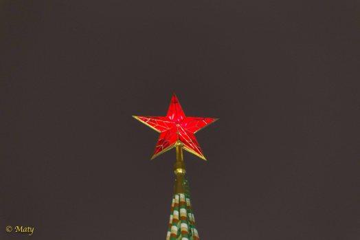 Red Star at Kremlin's Savior's Tower