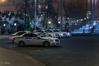 Plenty of Mercedes Police cars