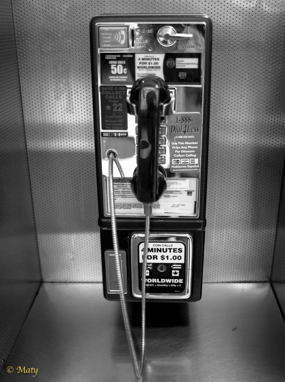 Pay Phone - a true white elephant