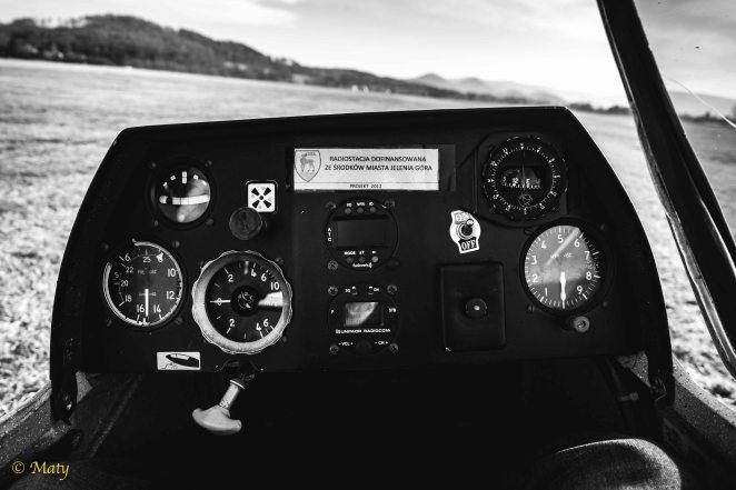 Inside the SZD-50 Puchacz glider