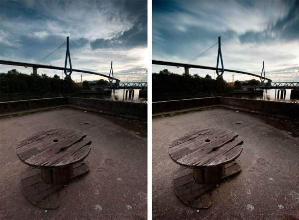 Graufilter Vergleich Lee Big Stopper Langzeitbelichtung Köhlbrandbrücke