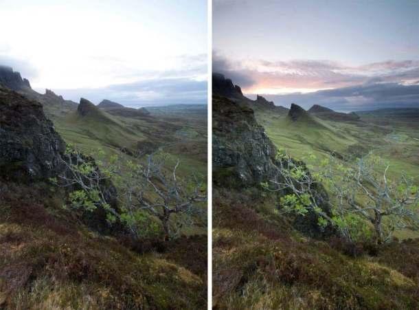Grauverlaufsfilter-Vergleich-vorher-nachher-Landschaftsfotografie