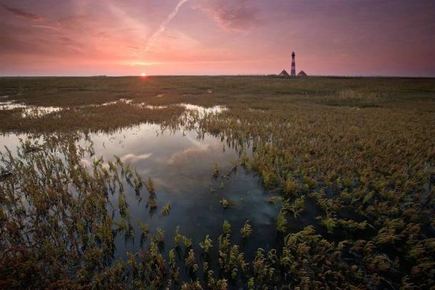 Westerhever Leuchtturm Sonnenuntergang Landschaftsfotografie