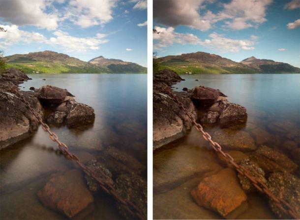 Polfilter-Vergleich Landschaftsfotografie Schottland